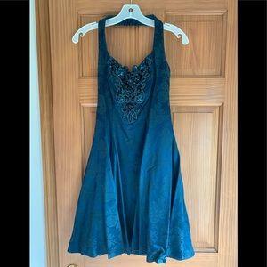 Jump Apparel cocktail dress. Dark teal, size 5